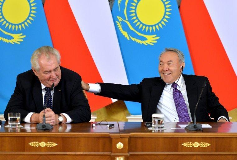 Чех Республикасының президенті Милош Земанмен, ол Қазақстанға ресми сапармен келген еді. Астана, Ақорда, 2014 жылдың 24 қарашасы.