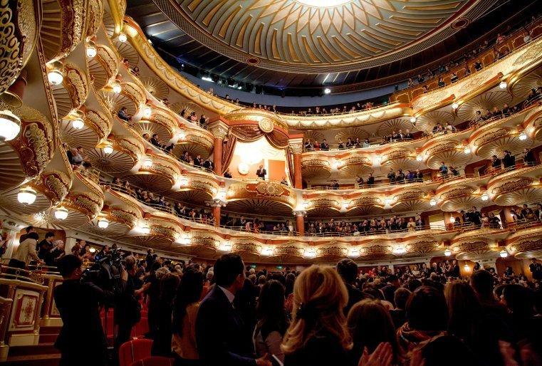 """Дж.Вердидің """"Аттила"""" операсының әлемдік таныстырылымында. Астана, """"Астана Опера"""" мемлекеттік опера және балет театры. 2013 жылдың 22 қазаны."""