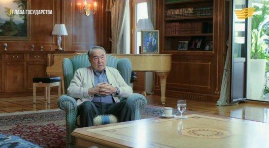 "Нұрсұлтан Назарбаев. © ""Хабар"" телеарнасының кадры"